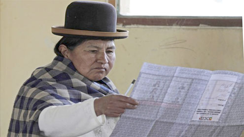 Bolivians election
