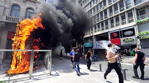 Greece general strike begins over spending cuts