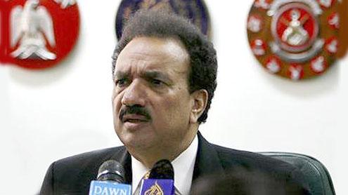 Interior Minister Rehman Malik