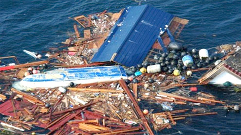 Up to 20 million tons of debris from Japan's tsunami moving toward Hawaii