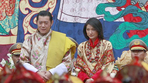King of Bhutan marries his commoner bride