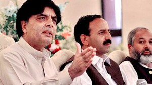 Opposition leader Chaudhry Nisar