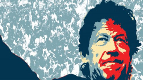 Imran bursts onto the political stage,spectacularly