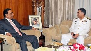 President Asif Ali Zardari and Admiral Asif Sandila