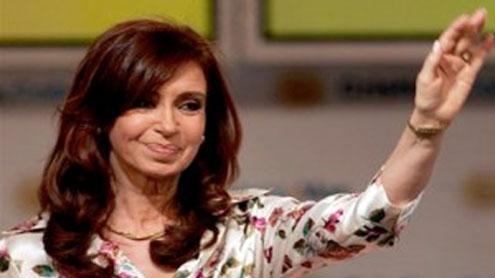 Argentina's Cristina Fernandez celebrates landslide win