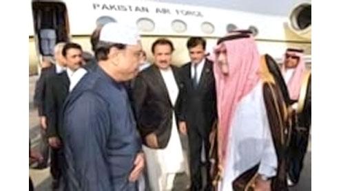 President Zardari condoles demise of Crown Prince