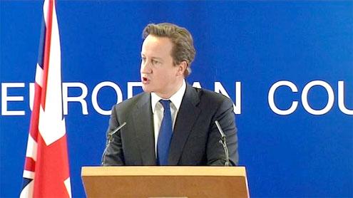 David Cameron clashes with France's Sarkozy over euro