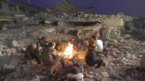 Turkish quake survivors