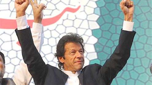 opposition politician Imran Khan
