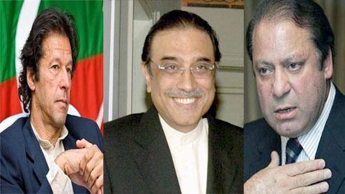 The Ball between Nawaz, Zardari and Imran Khan