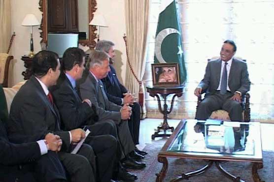 US Congressional delegation calls on Zardari