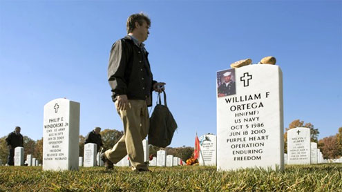 At Arlington National Cemetery, mementos for latest war dead get more personal