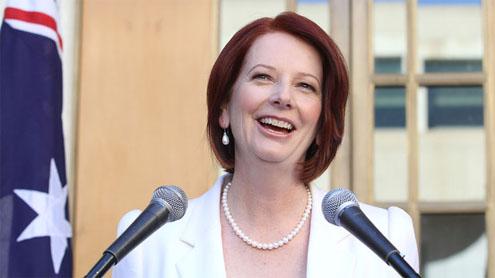 MELBOURNE: Australian Prime Minister Julia Gillard on Monday sent a ...