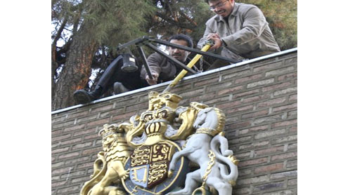 Iranian protesters storm British Embassy in Tehran