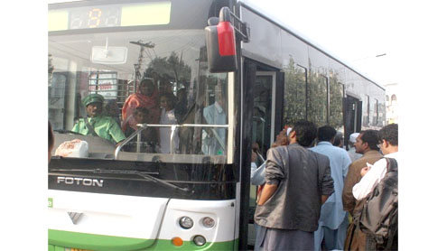 Newly launched CNG buses hit a bumpy road
