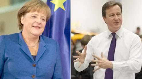 Cameron And Merkel To Meet In Berlin