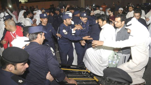 Kuwait opposition protesters disrupt parliament