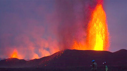 Tourists invited to see erupting Congo volcano
