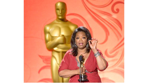 Oprah Winfrey receives 'unimaginable' Oscar