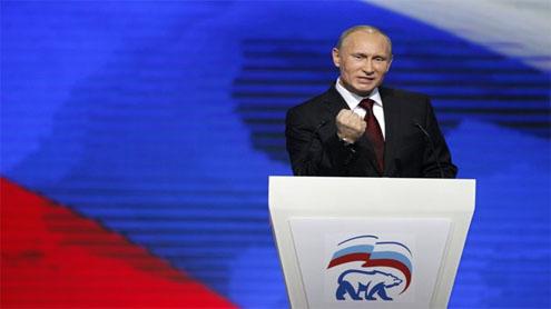 Putin warns West as he launches presidential bid