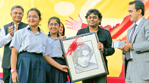 A R Rahman strikes a chord with students