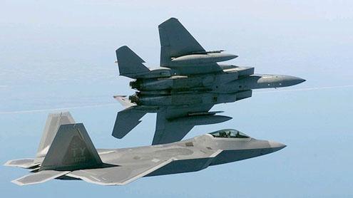 F-15 warplanes