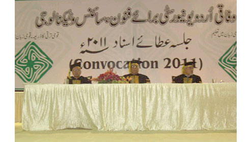 600 conferred degrees at FUUAST convocation