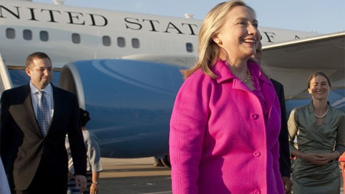 Mystery calls again bring Hillary Clinton's name into 2012 election conversation