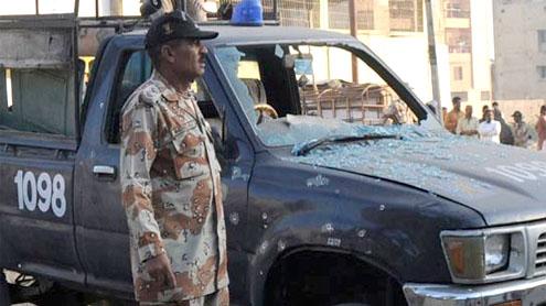 Karachi blast kills 3 Rangers