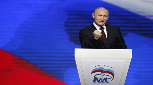 Putin's party losing support in parliamentary vote