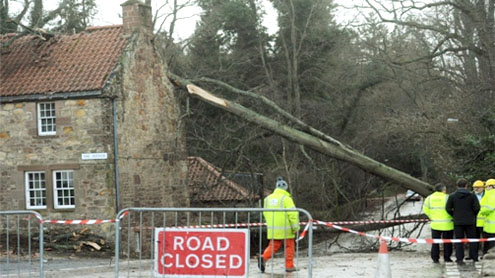 Scotland storm: Work to restore power to homes