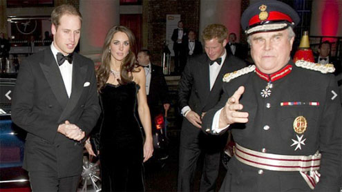 Duke and Duchess of Cambridge honour British troops at awards night