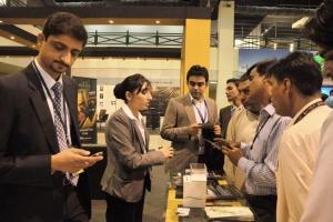 UAE Expo - Busy Etihad stall 1