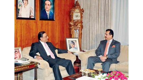 Yousuf Raza Gilani and president zardari