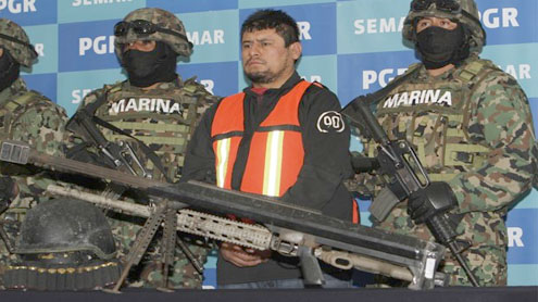 Mexico says captured cartel leader had arsenal