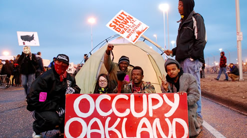 Occupy protests disrupt ports across US West Coast