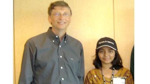 Bill Gates and Arfah Karim