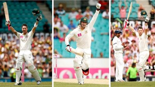 Clarke scores triple century before Australia declare