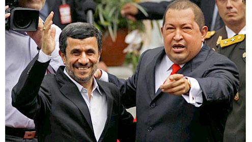 vIran's Mahmoud Ahmadinejad and Venezuela's Hugo Chavez taunt US over 'big atomic bomb'