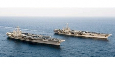 U.S. aircraft carrier enters Gulf without incident