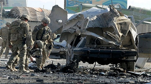 Car bomb kills four Afghans