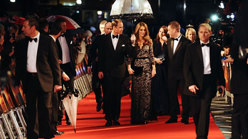 Steven Spielberg 'honoured' to meet Duke and Duchess of Cambridge at War Horse premiere