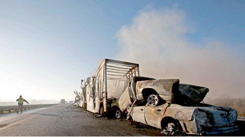 Florida highway smashes kill 10 people