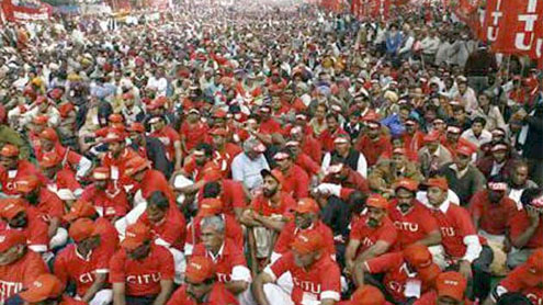 Central trade unions strike