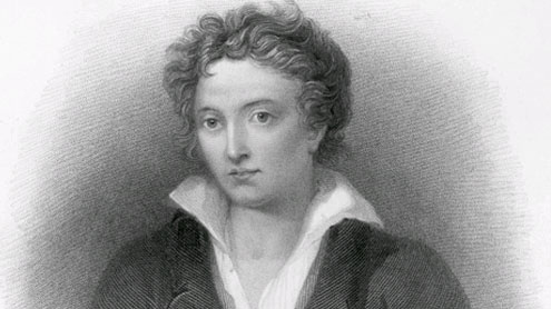 English poet P B Shelley