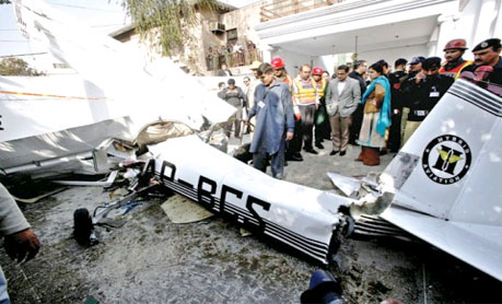 Plane crashes into Lahore house; two dead