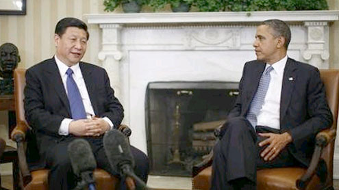 President Obama and China's Vice President Xi Jinping