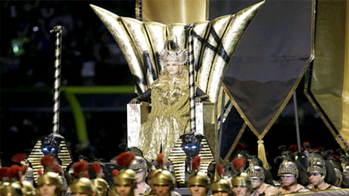 Madonna steals the show at the Superbowl in Givenchy