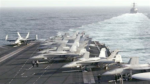 US aircraft carrier strike group