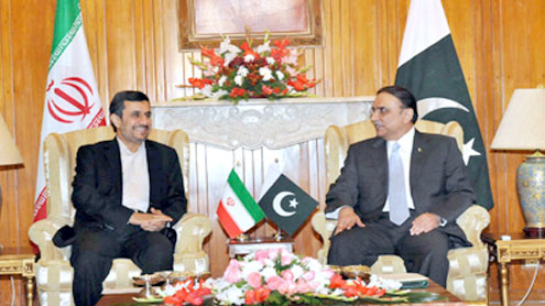 Zardari, Ahmadinejad discuss bilateral ties
